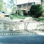 retaining wall with stones